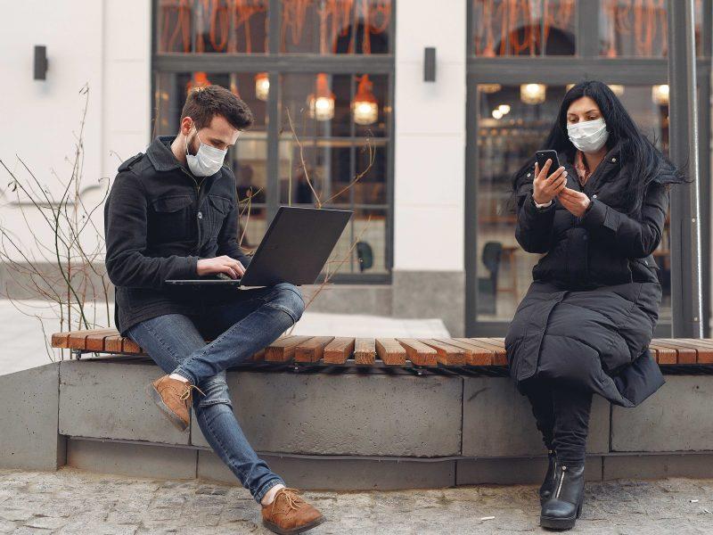 máscara que cancela o vírus do COVID-19