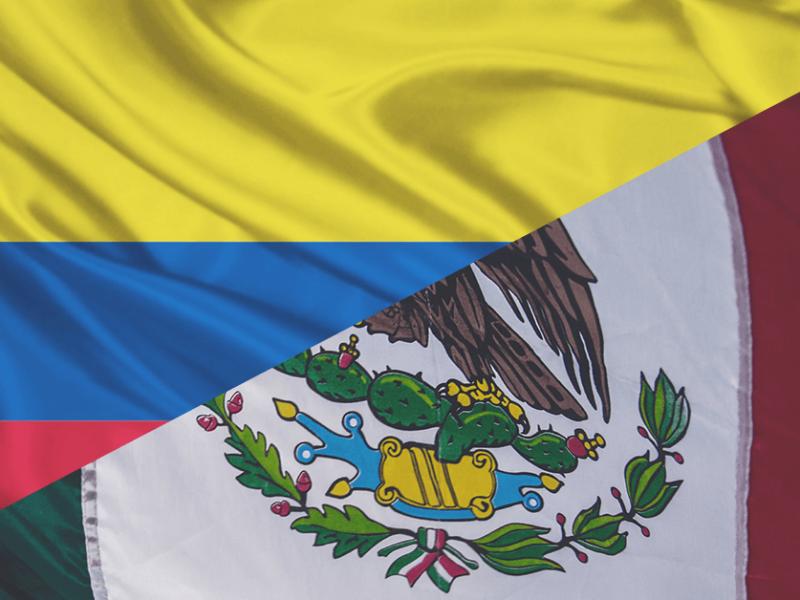 la relación comercial entre México y Colombia
